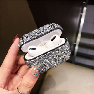 1PCS Fall Diamant-Kasten-glänzendes Glitzernde Bingbing Punkt Air Schoten 3 Fall für Apple Airpods pro Schutz-Abdeckung für Luft Schoten Airpod 3
