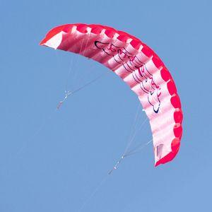 1,4 m Power Double Line Parafoil Soft Kites Fliegender Sport-Stunt-Drachen mit Griff Ripstop-Nylon-Outdoor-Kitesurf