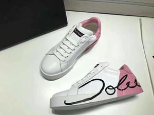 2020 Designer fashion luxury velvet leather high quality mens women shoe Lace up platform flat sneakers white black casual shoes 35-46