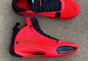 Les meilleurs Jumpman XXXIV 34 Infrarouge 23 Chaussures de basket-34s Zoom Bred Blanc Rouge Noir Eclipse Noir Blanc Hommes Sport Chaussures de sport avec la boîte