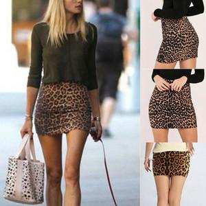 Heißer Verkauf Sexy Frauen Super Mini Leopard Röcke Mode Hohe Wasit Dünne Bleistiftrock Herbst Sommer Damen Nachtclub Partywear