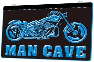 LD0607 motocicleta bicicleta Vendas Serviços caverna do homem RGB Multiple Sign Cor Remote Control 3D gravura LED Neon Light Shop Bar Pub Clu