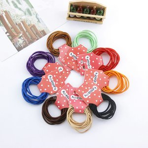 New Fashion 10Pcs Card Child Rubber Bands Hair Accessories Wholesale Candy Colors Hair Elastics For Girls Kids