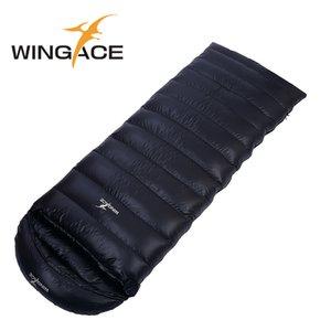 WINGACE ملء 4000G بطة أسفل كيس النوم في فصل الشتاء 95٪ داون تسلق السفر في الهواء الطلق التخييم الحارة مغلف كيس النوم الكبار