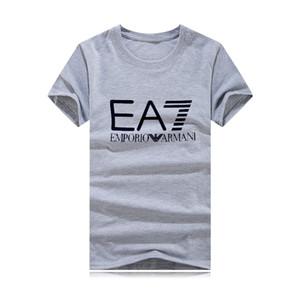 2020 Luxo Mens Designers Camiseta Casais Famous Brands Homens Mulheres Casual Pullover T Shirt Black White Tamanho S-4XLArmanis