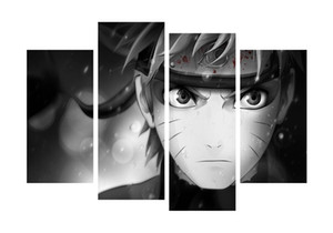 4 Panel Çerçevesiz Naruto Close-up Yağmur ve Kan Anime Poster Baskı Için Tuval Duvar Sanatı Resim Ev ve Oturma Odası dekor