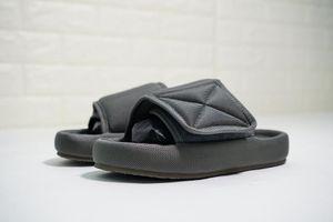2020 New Top Quality Kanye Season 6 Nylon Slides Men Women 3D Waterproof West Seasn6 Memory Foam High-density Embroidery Green Slippers c14