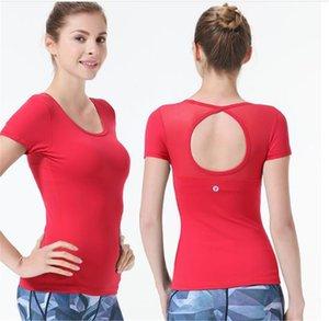 Yoga Kıyafetler Üst Spor Gömlek Kadın Kısa Kollu T Sıkı Esneklik Çalışan Egzersiz ve Fitness Tops