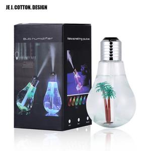 Красочный свет лампы Увлажнитель воздуха Ультразвуковой USB 400ML Эфирное масло Диффузор Форсунки освежитель Mist Maker для домашнего офиса