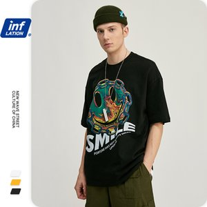 INFLATION Mens T shirts Fashion 2020 Trending Cotton Funny Tshirts Short Sleeve T shirt For Men Short Sleeve Men shirt 1284S20