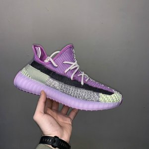 01 2020 Kanye West 3M Static Running Shoes New Israfil Cinder Desert Sage Earth Tail Light Zebra Womens Mens Trainers Sneakers 36-46