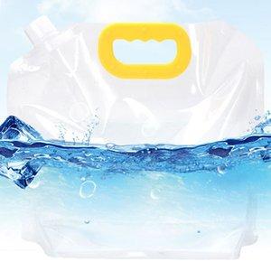 3L Senderismo al aire libre plegable que acampa portable reutilizable de elevación Easy Clean Supervivencia bolsa de almacenamiento de agua