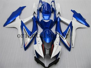 GOOD For SUZUKI GSXR 600 750 GSX R750 R600 GSXR600 08 09 10 GSX-R750 GSXR-600 K8 GSXR750 2008 2009 2010 dark blue white Fairing kit Aa19