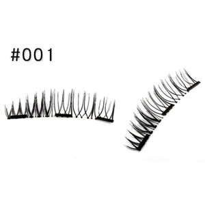OutTop 2020 1Pair Double 3D Magnetic False Eyelashes Natural Eye Lashes Extension Handmade 05.22