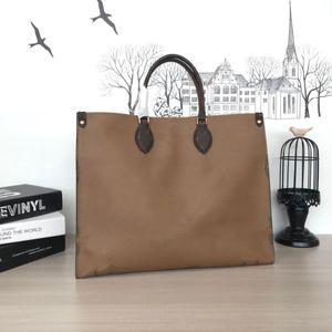 أعلى جودة مصمم حقيبة يد ONTHEGO حقيبة يد المرأة الجديدة الأزياء الطباعة على الوجهين كبيرة أسلوب مختلف مصمم حمل
