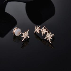 Оптово-Asymmetric Метеориты серебряные серьги