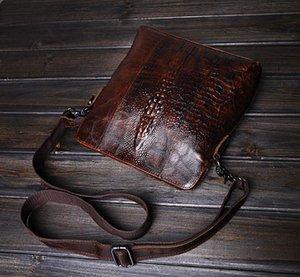 Designer-Die erste Schicht aus Leder Tasche Ledertasche Vertikalschnitt Männer Crazy Horse Leder Schulter Messenger Bag Freihandels