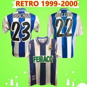 Deportivo Alaves jersey # 11 TURU FLORES 1999 2000 de football maillot rétro Deportivo de La Corogne le football millésime chemise # 9 PAULETA # 7 Makaay FERNANDO Camisa de futebol
