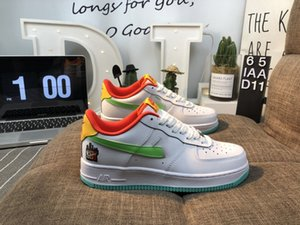 2019 последний высокое качество официальный сайт новый цвет соответствия AF1 мужчины и женщины Хэллоуин Shibuya квалифицированные low-top обувь мальчики повседневная обувь 1