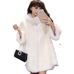 Women Faux Fur Coat Jacket Winter Fur Coat Female 2019 Autumn & Winter Three Quarter Sleeves Fur Coat High Quality!