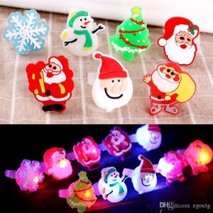 Led desenhos animados Anéis LED Light Up Jelly suave dedo Anéis Luzes Supplies bonito piscar de Natal flash luminoso Anel Decoração Toy