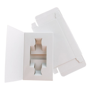 White Cardboard Boxes for 10ML 5ML 3ML Perfume Bottle Wholesale Blank Paper Packaging Boxes for Perfume Sample Refillable Bottle