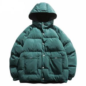 Streetwear Hip Hop Veste réversible Parka Veste matelassée coupe-vent Harajuku Puffer manteau chaud avec capuche Outwear en vrac Nouveau