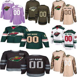 2020 Новости Миннесота Уайлд хоккея Несколько стилей мужские 11 Паризе 36 Цуккарелло Пользовательские Любой Имя Любой номер хоккея