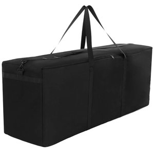 Furniture Storage Tote Bag Waterproof and Dustproof Storage Bag Garden Furniture Cushion Bag, Heavy Duty 600D Oxford Chr