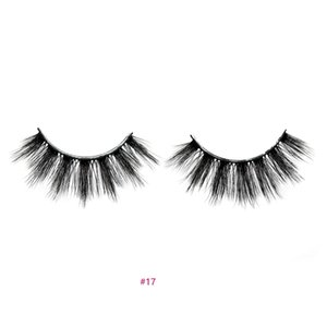 False eyelashes 3D hand-made natural long extension thick black soft with glue spiky eyelashes for eye make-up #17