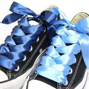lacci Nuovo 1 coppia 2 cm Larghezza raso Silk Ribbon merletti del 80/90/100 cm di lunghezza della scarpa da tennis Sport Scarpe in pizzo per bambini per adulti