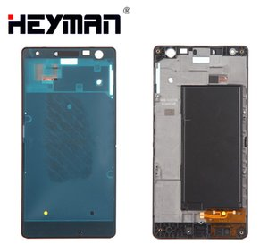 Housing For Nokia Lumia 730 Lumia LCD Screen Middle Front Frame Bezel Holder Frame Repair Parts +Adhesive