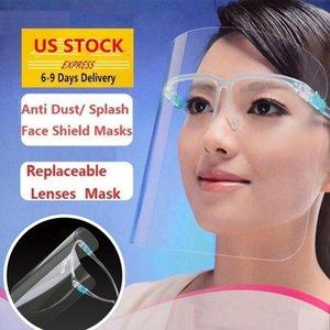 10 Pcs US stock PET Protection de face de sécurité d'huile anti-éclaboussures anti-UV Housse de protection face avec verre transparent en verre Masque visage