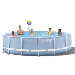 INTEX 305 * 76 см Круглая рамка Над землей бассейн Set 2020 модель Pond Семейный бассейн Фильтр насоса металлический каркас structure1