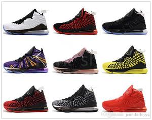 2019 novos sapatos LeBron XVII 17 Sapatos Das Mulheres Dos Homens Atlético 16 s Lobo Cinzento lebron 17 tênis de Basquete Meninos Crianças tamanho US4-12 Com Caixa