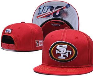 2020 all'ingrosso cappello San Francisco SF 49 Cap snapback Calcio Berretti tesa palla della squadra di baseball di formato di retro modo classiche da uomo Cap Donne A05