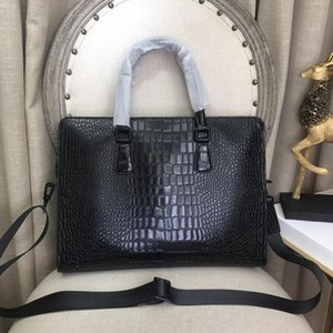 Diseñador-bolso hombre bolsos Medusa cabeza cuero genuino hombres negocios maletines alta calidad bolso de mano