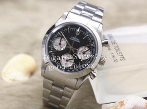 Relógio de Quartzo Chronograph dos homens do vintage Mens Panda Dial Ronda Cosmograph Relógios de Aço Inoxidável Suíço Homens Relógios de Pulso Perpétuo