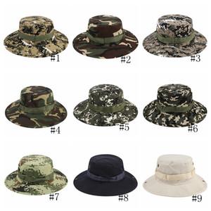 18styles Askeri Boonie Şapka Kamuflaj Geniş Ağız Şapka Kovboy Güneş Şapka Balıkçılık Ordu Kova Kap Açık Taktik Kapaklar GGA3176-1
