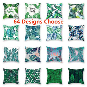Tropical Plant Pillowcase Cushion Cover Glamour Square Pillow Case Cushion Cover Home Office Sofa Car Decoration Free DHL HH7-2023