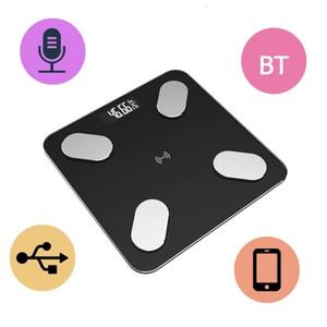 Смарт Body Fat весы электронные весы весы Состав Цифровой Вес Масштаб Беспроводная связь Bluetooth закаленное стекло тела монитор через App
