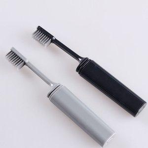 Compacto e portátil Bamboo Charcoal Folding Escova Dobre Viagem Camping Caminhadas ao ar livre fácil de tomar dobrável teethbrush