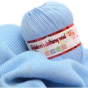 L'alta qualità 50g / sfera 132 metri infantile mano di seta lavorata a maglia cachemire filato uncinetto filato