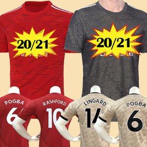 2020 2021 FC RASHFORD B. FERNANDES POGBA futbol formaları manchester United LINGARD Lukaku MARTIAL RASHFORD futbol forması birleşik MAN UTD 20 21 üniforma adam + çocuk kiti