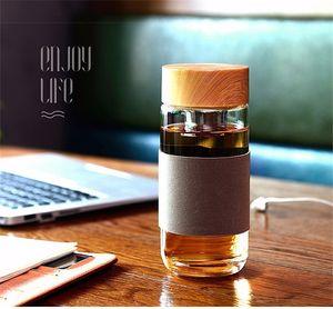 Çay Infuser Süzgeç Isıya Dayanıklı Avrupa Stili 400ML Cam Filtre Seyahat Otomobil Ofis İçme Şişeler Çay Kupalar ile Cam Su Şişesi