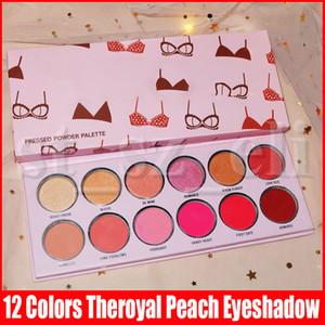 Trucco dell'occhio Valentino 12color Theroyal Peach Eyeshadow Palette opaco di luccichio Long Lasting stampa Bikini Valentine ombretti