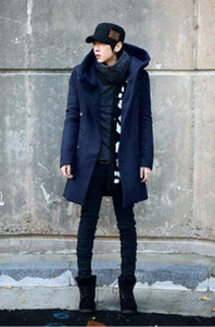 Mens Designer Jacket Brasão Reflective Windbreaker Mid-length casaco de lã Brasão 2020 coreana de Slim Grosso com capuz Trench