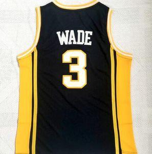 Personalidade 3 Wade College Basketball veste, homens desgaste Marquette Eagles dourado 3 Wade Basketball, loja fã loja online para a camisola venda personalizados