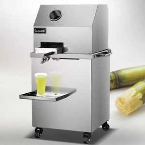 Otomatik elektrikli şeker kamışı sıkacağı makinesi dikey şeker kamışı sıkacağı makinesi fiyat 110 v 220 v ticari şeker kamışı suyu maki ...