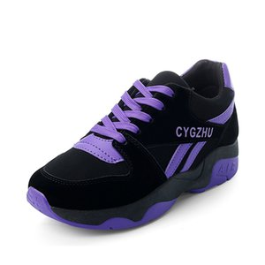estudiantes de primavera y otoño de Corea del calzado de deporte de las mujeres salvajes mujeres calzados informales de funcionamiento plana aumentan de grosor marea zapatos de piso